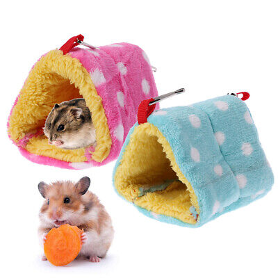 Lovely Plush Small Pet Hamster Bed Rat Mouse Sleeping Bed Winter Warm House Nest