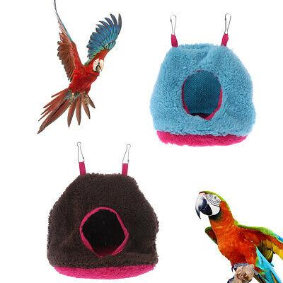 Plush Fuzzy Parrot Hammock Cage Bird Hanging Bed  House Nest Tent Winter Warm