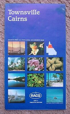 Vintage 1994 RACQ Townsville Cairns 12th Edition Map