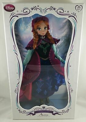 """Neu Disney Store Frozen Anna 17 """" Limited Edition Collector Doll Le 5000"""