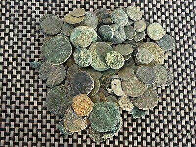 Lot Of 100 Ancient Roman / Greek / Byzantine Bronze Coins