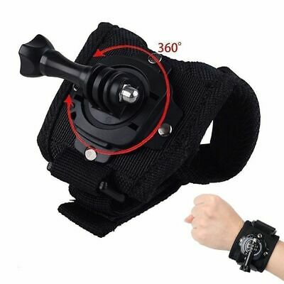360 Degree Rotation Wrist Hand Strap Band Holder W/Mount For GoPro 2 3+ 4 5 6 7