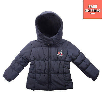 KRYTIK Quilted Jacket Size 9M Padded Detachable Hood Full Zip Funnel Neck