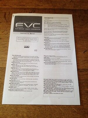 Hks Evc Vi 6 Electronic Boost Controller Instructions Manual