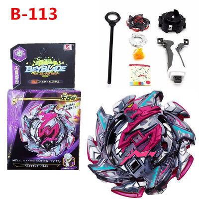 Hell Salamander Burst Beyblade STARTER B-113 B113 + Launcher With Box Set Toys