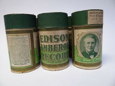 Six Edison Amberol Records Four Minute (a)
