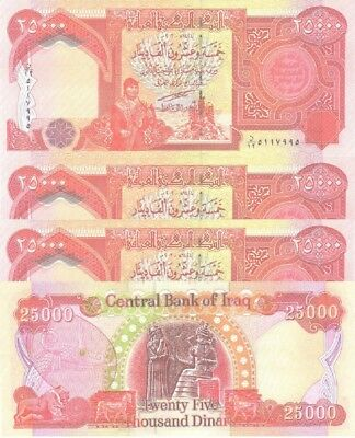500,000 NEW IRAQI DINARS 2003 (20 x 25000) IQD-UNCIRCULATED!