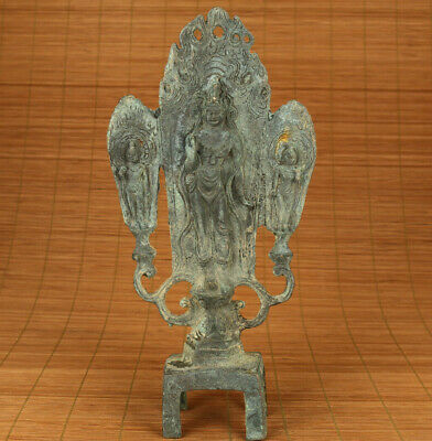 Chinese old bronze hand carving buddha statue home decoration big feng shui gift