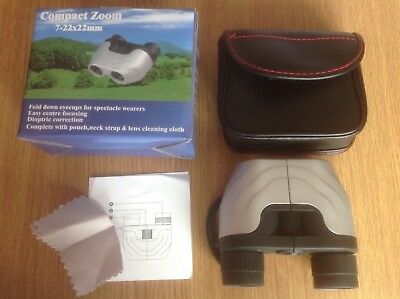 COMPACT ZOOM BINOCULARS - New With Case