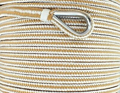 12mm x 100M Double Braid Nylon Anchor Rope Super Strong Great for Drum Winches