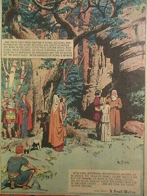 1946 Sunday Color Comics With Prince Valiant Val & Aleta Get Married Mutt & Jeff
