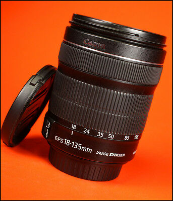 Canon EF-S 18-135mm f3.5-5.6 IS STM Image Stabilizer Zoom + Both Caps
