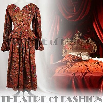 DRESS VINTAGE DROOPY & BROWN VICTORIAN VAMP MEDIEVAL TUDOR 16th C ARTISTS RARE