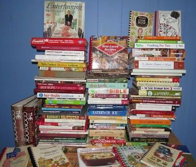 Great Lot of 150+ Cookbooks All Genres Free Shipping
