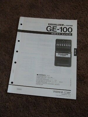 YAMAHA EQUALIZER FOR Guitar GE-100 Service Manual Schematics ... on