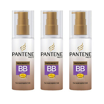 3 X Pantene Youth Protect BB Creme 7in1 Leave In Hair Perfector 145ml