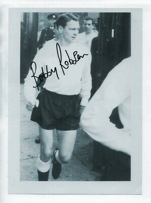 BOBBY ROBSON at England training in 1960's - HAND SIGNED PHOTO - 25cm x 18cm
