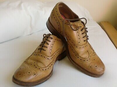 Grenson Gents LightTan Brogues 8 Leather with Leather sole Used but in good cold