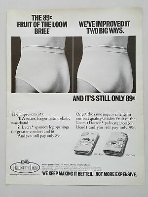 881cbb6bcb7 1971 Fruit of the Loom Mens  Underwear Lycra Spandex Vintage Magazine Print  Ad
