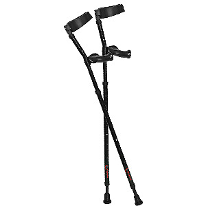 Spring-loaded Millennial Medical Forearm crutches with ergonomic handles