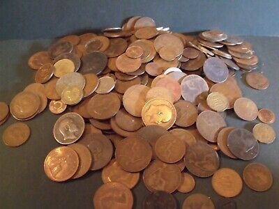 Job Lot Of Uk Old Coins