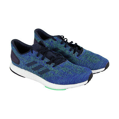 35edc9bfa2269 Adidas Pureboost Dpr Mens Blue Textile Athletic Lace Up Running Shoes