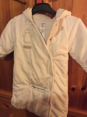 Carters buggy suit with hood 0-3 months  cream.