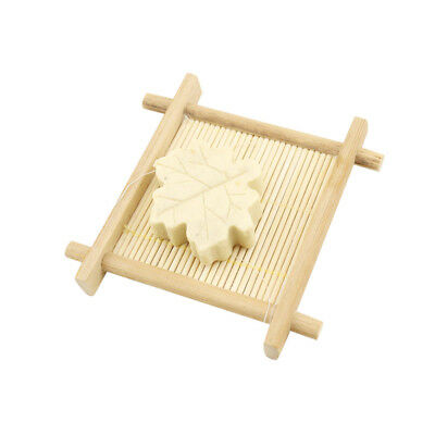 2018 Natural Bamboo Wood Bathroom Shower Soap Tray Dish Storage Holder Plate
