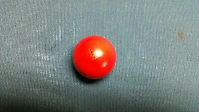 Pallino (Red) Large Ball-Official Solid Wood Target Bocce  Ball- Made In Italy