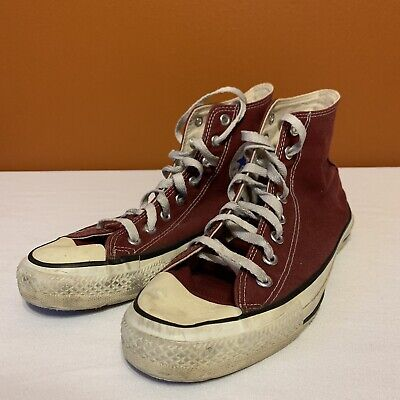 e0aeabd45fd1ec Vintage Retro VTG Converse Chuck Taylor All Star High Top Maroon In USA US 9