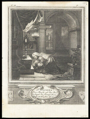 St Juliana of Nicomedia  1725 German Engraving of The Solitary or Hermit Saints