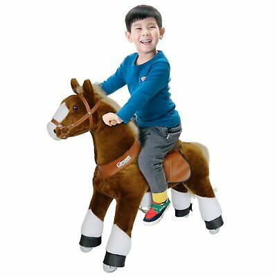 PonyCycle Ride On Toy Horse Brown White Hoof Small Size for Ages 3-5 Years