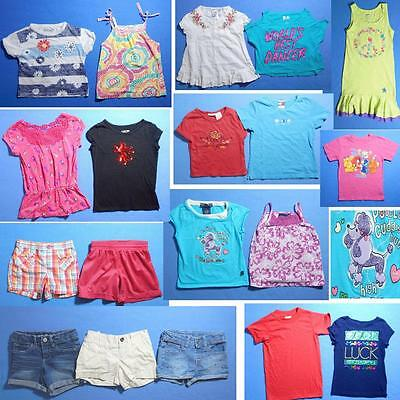 NICE Lot 19pc girls Spring Summer clothing Sz 6~Tops Shorts FAST SHIP~S37