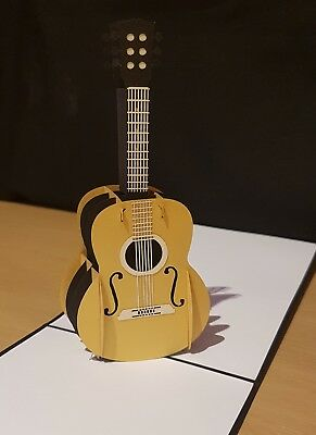 3D Pop Up Guitar Card. Ideally for Birthday, Congrats, or all Occassions