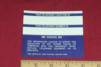 Old Payphone Billboard Sign Dialing Instruction Calling Display Vintage Coin 7