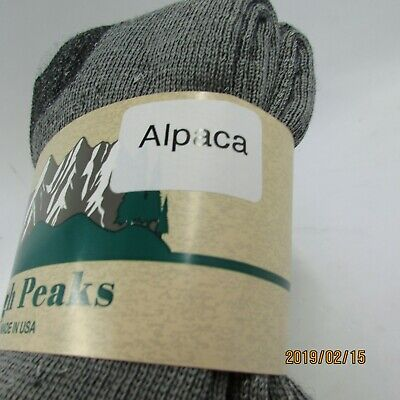 2 Pair Alpaca Men's Outdoor Thermal Boot Socks -Made In The USA- Size 10-13