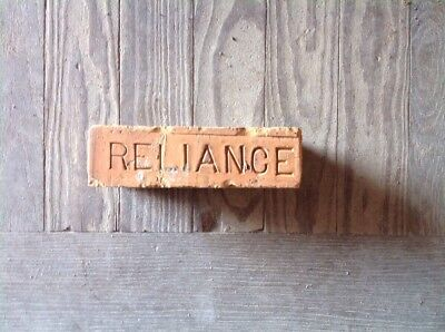 Antique Brick Stamped ***** Reliance   *******