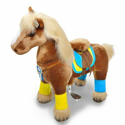 PonyCycle Ride On Toy Premium Brown Horse Medium Size for Ages 4-9 Years K42