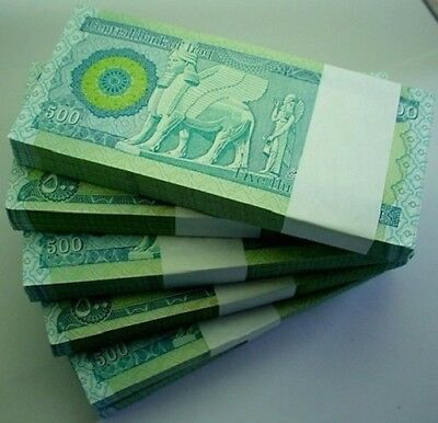 100 X 500 New Iraqi Dinars 2013 Crisp Unc Authentic Iqd Bundle-Certified!