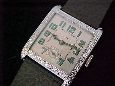 Early Art Deco Vintage Large Square Bulova In Outstanding Condition Refurbished
