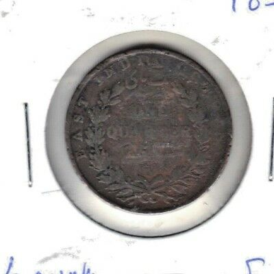 East India 1835 One Quarter Anna Coin