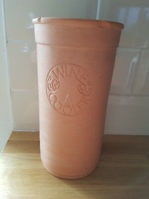 Vintage retro Terracotta Wine Cooler. With lid