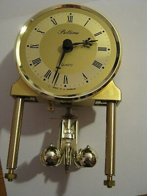 SPARES for Beltime small anniversary carriage clock.Movement and pendulum only.