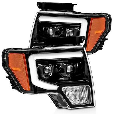 2014 F150 Headlights >> Alpharex Pro Series Jet Black Projector Headlights For 2009