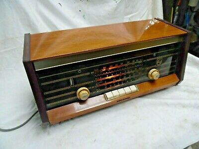 Vintage Phillips Radio Model B4X47A Am Sw Valve Radio Made In Holland