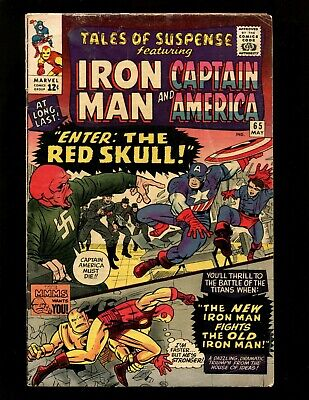 Tales of Suspense #65 VGF Kirby Heck Iron Man Captain America 1st S.A. Red Skull