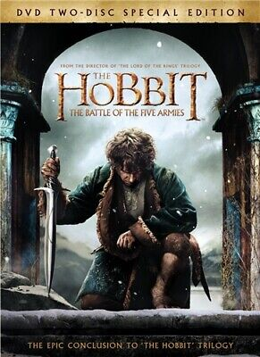 THE HOBBIT THE BATTLE OF THE FIVE ARMIES New Sealed 2 Disc DVD Special Edition