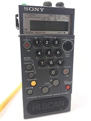 Sony Icf-Pro80 Radio Portable Scanner Receptor Short Wave - Tested Working