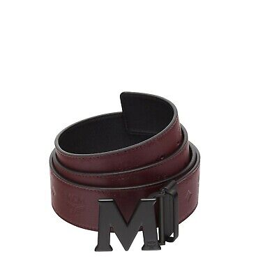 4c9e3b823cfb6 Brand New Unisex Mcm Rustic Brown And Black Claus Reversible M Buckle Belt