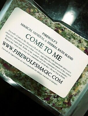 Come To Me Herb & Mineral Bath Handmade - Organic, Wicca, Witchcraft, Hoodoo